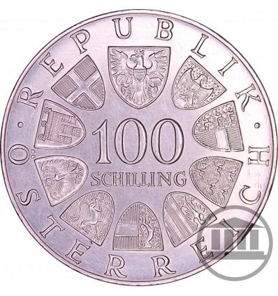100 SZYLINGÓW, SCHILLING 1979 - CENTRUM WIEDEŃ, INTERNATIONALES ZENTRUM