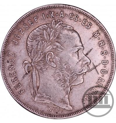 1 FORINT 1879 K.B - FRANCISZEK JÓZEF I, FRANZ JOSEPH I