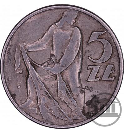5 ZŁ 1958 BEZ ZNAKU