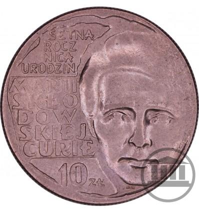 10 ZŁ 1967 - MARIA SKŁODOWSKA - CURIE