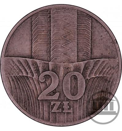 20 ZŁ 1973 BEZ ZNAKU - WIEŻOWIEC I KŁOSY