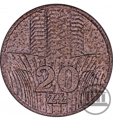 20 ZŁ 1974 BEZ ZNAKU- WIEŻOWIEC O KŁOSY
