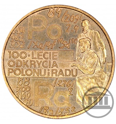 2 ZŁ 1998 - 100-LECIE ODKRYCIA POLONU I RADU