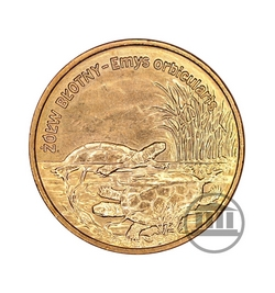 2 zł 2002 - Żółw Błotny - rewers
