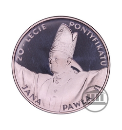 10 zł 1998 - 20-lecie Pontyfikatu Jana Pawła II - rewers