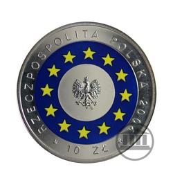 10 zł 2004 - Wstąpienie Polski do Unii Europejskiej - awers
