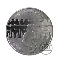 10 zł 2006 - 30 rocznica Czerwca 76 - rewers