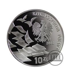 10 zł 2008 - 40 rocznica Marca 68 - awers