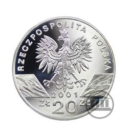 20 zł 2001 - Paź Królowej - awers