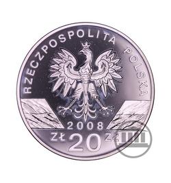 20 zł 2008 - Sokół Wędrowny - awers