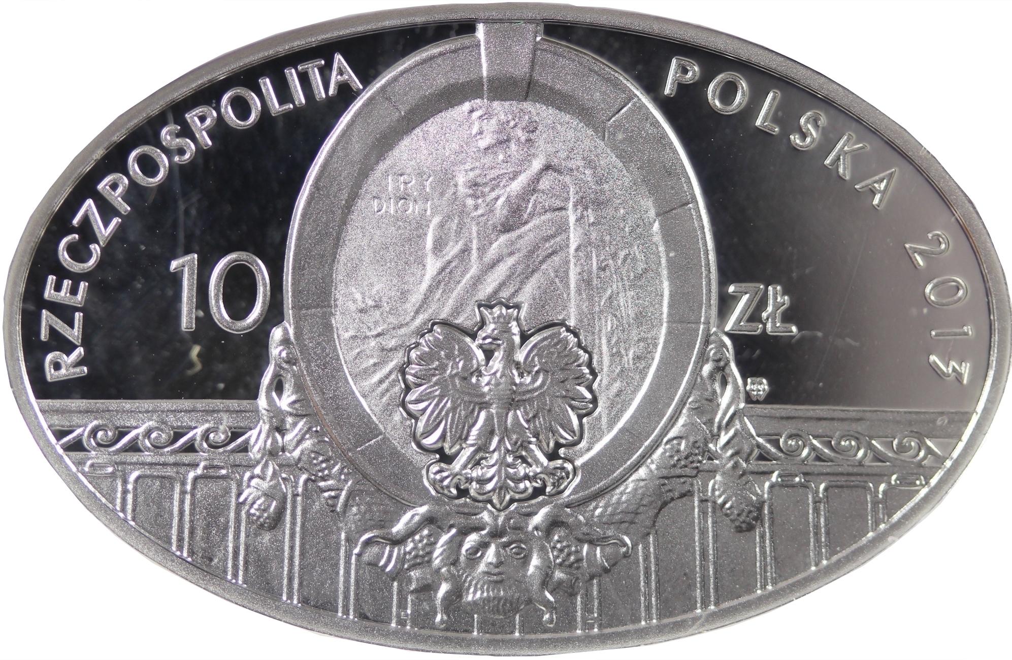 10 złotych 2013 100 lat Teatru Polskiego w Warszawie - awers