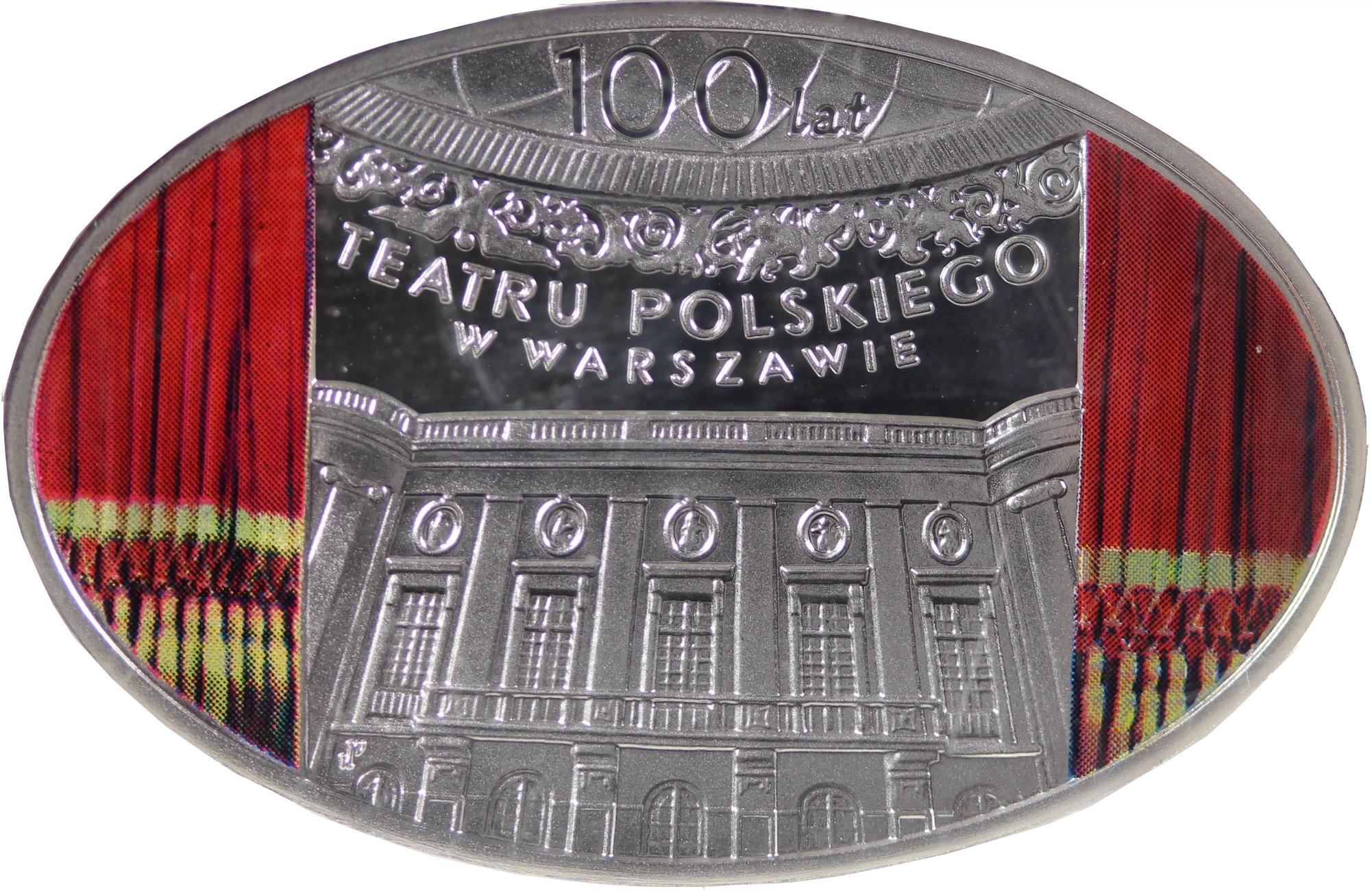 10 złotych 2013 100 lat Teatru Polskiego w Warszawie - rewers