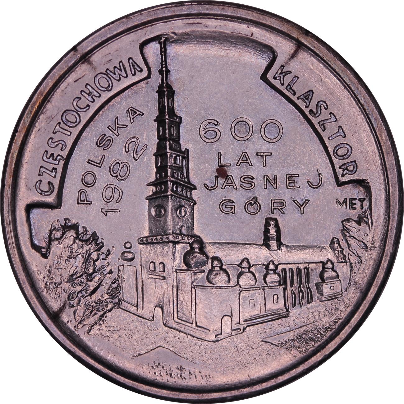 Medal 600 lat Jasnej Góry